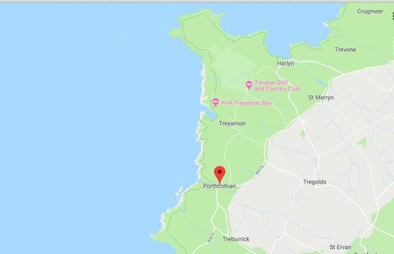 Waves Surf School, Cornwall - Surf Lesson Location Map - Porthcothan