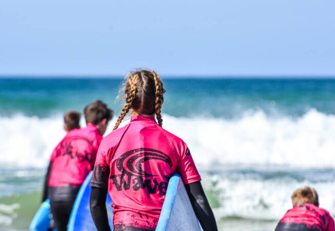 Waves Surf School, Cornwall - Surf Lessons Family Surf Package