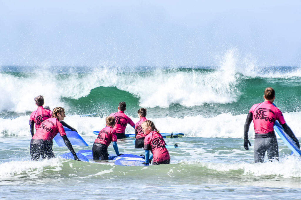 Waves Surf School Cornwall | School Group Surf Lessons